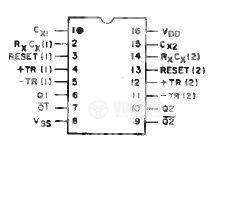 Интегрална схема 4098, CMOS, Dual Monostable Multivibrator, DIP16 - 2