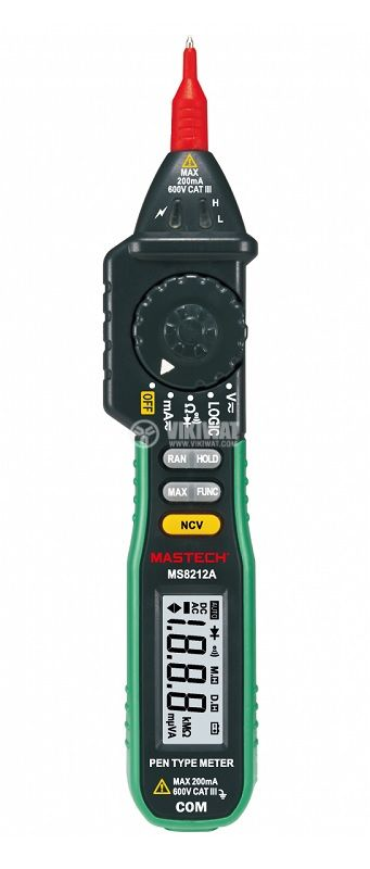 Дигитален мултиметър MS8212A - тип писалка, LCD(2000), Vdc/Vac/Adc/Aac/Ohm - 1