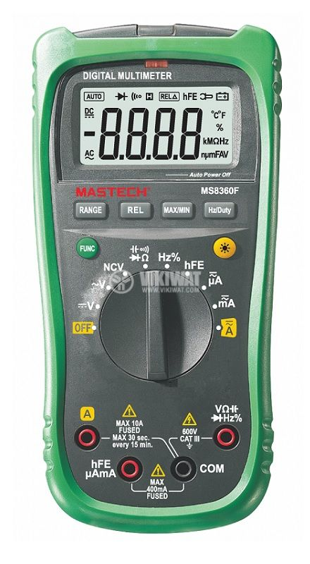 Цифров мултимер MS8360F, LCD(4000), Vdc/Vac/Adc/Aac/Ohm/F/Hz - 1