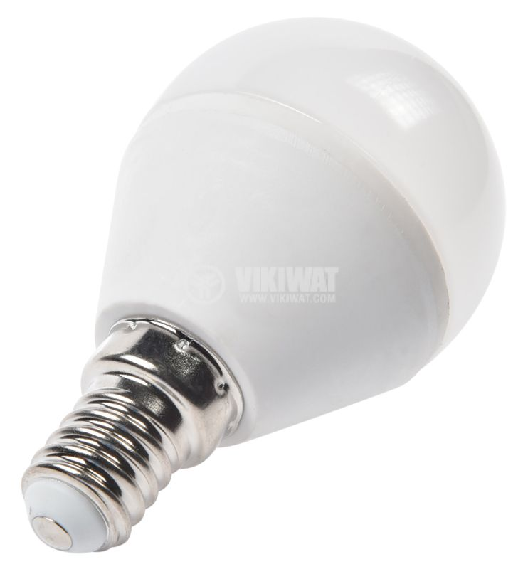 LED лампа 5W, E14, P45, 220VAC, 410lm. 4200K неутрално бяла, BA11-00511 - 2