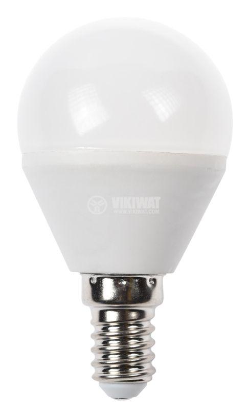 LED лампа 5W, E14, P45, 220VAC, 410lm. 4200K неутрално бяла, BA11-00511 - 3