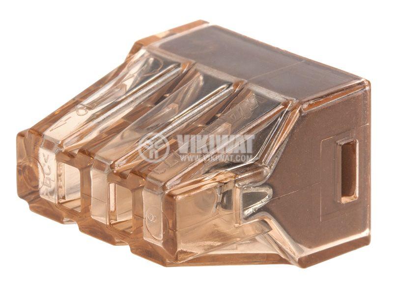 Клема, шестица, 400V, 32A, 4mm2, кафява - 3