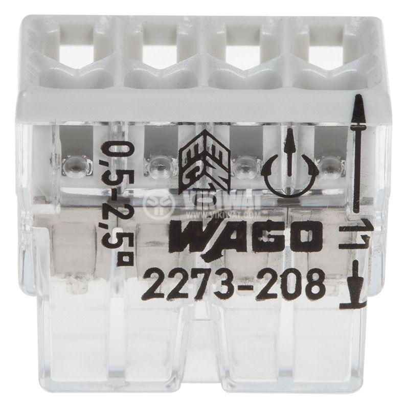 Клема шестица, 450V, 24A, 2.5mm2, сива - 3