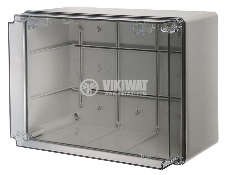 Кутия за табло 686.429 300x220x170mm сива с прозрачен капак IP56 - 1