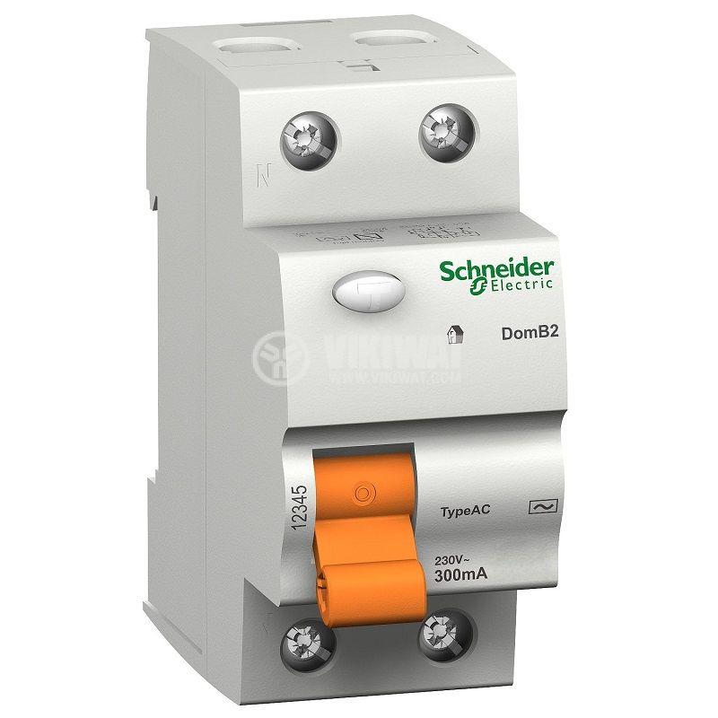 Дефектнотокова защита, 2P, 63A, 300mA, 16798, Schneider