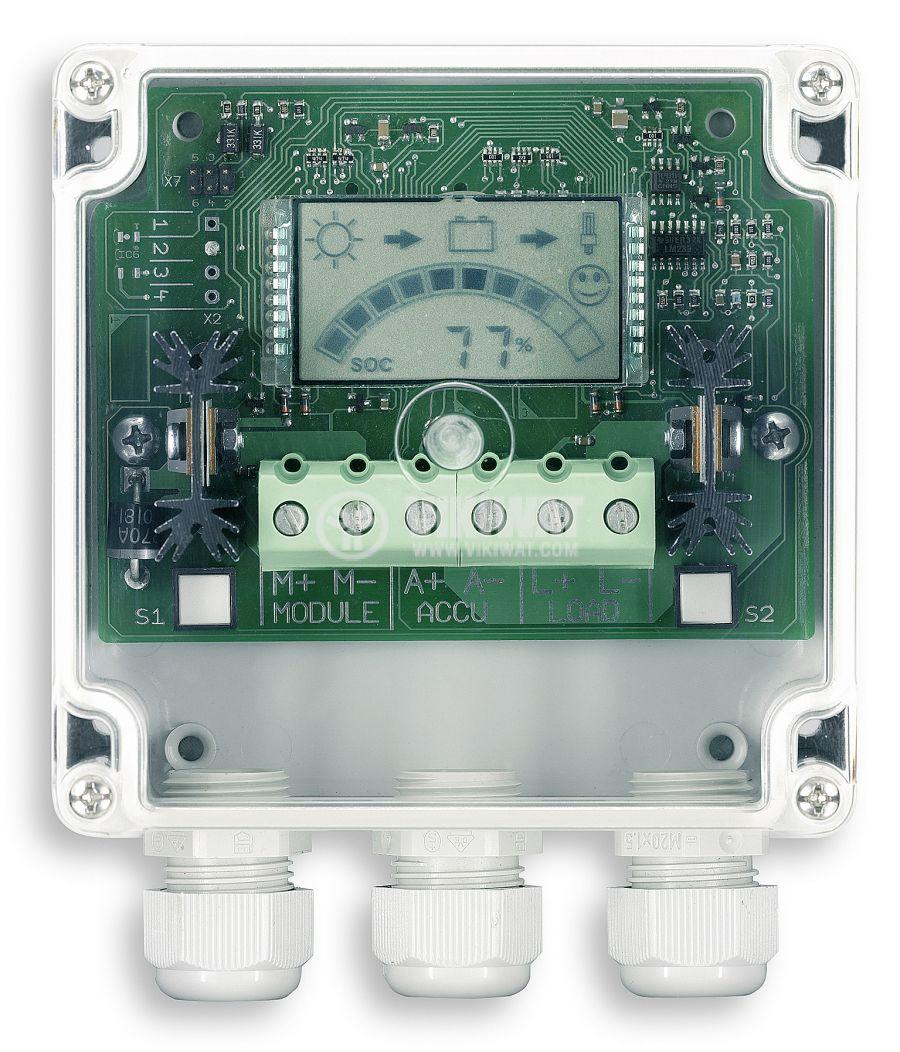 Solar chгarge regulator PR 2020-IP, IP65, 20A, 12V / 24V - 1