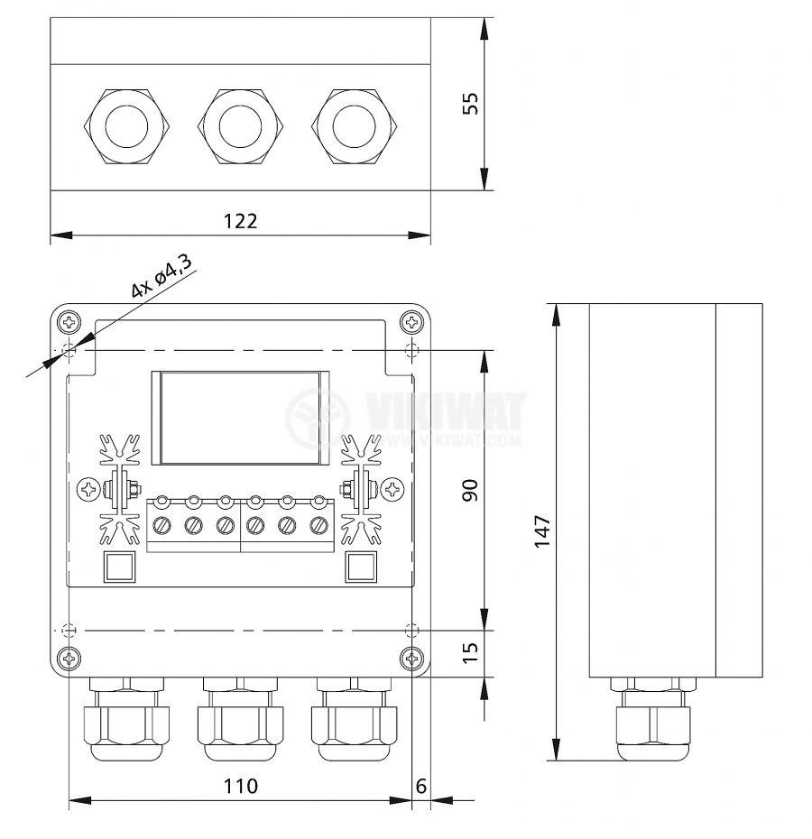 Solar chгarge regulator PR 2020-IP, IP65, 20A, 12V / 24V - 2