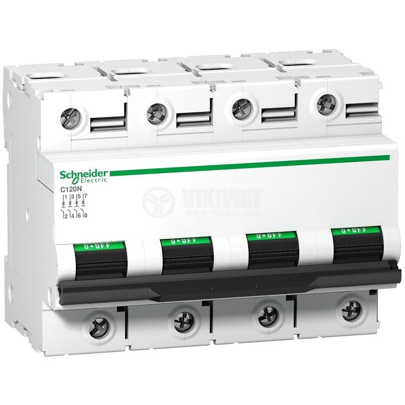 Предпазител автоматичен четириполюсен 100A 400V A9N18374