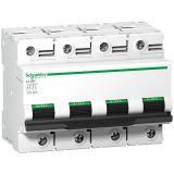 Предпазител автоматичен, четириполюсен, 125A, C крива, 400VAC, DIN шина, A9N18376, Schneider