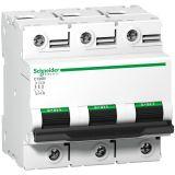 Предпазител автоматичен, триполюсен, 125A, D крива, 400VAC, DIN шина, A9N18389, Schneider