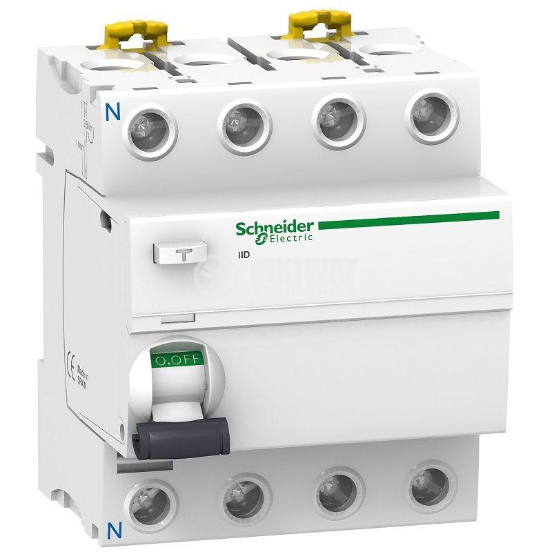 Residual-current circuit breaker, 4P, 63A, 300mA, A9R34463, Schneider