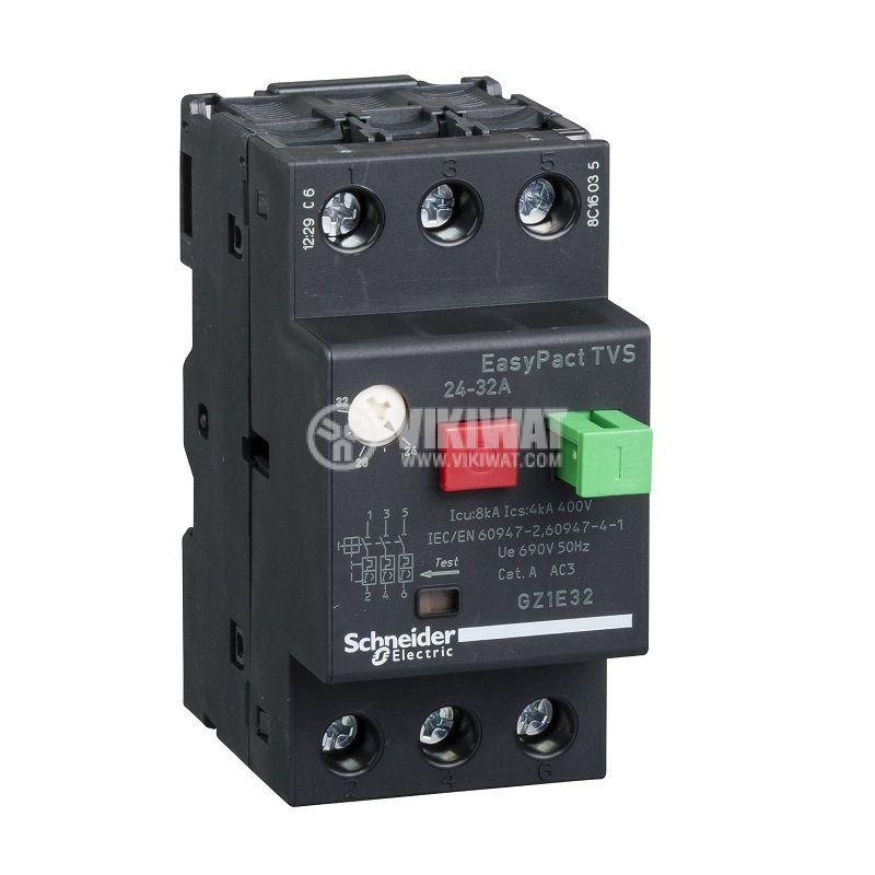 Моторна защита термо-магнитна 24-32A GZ1E32 Schneider