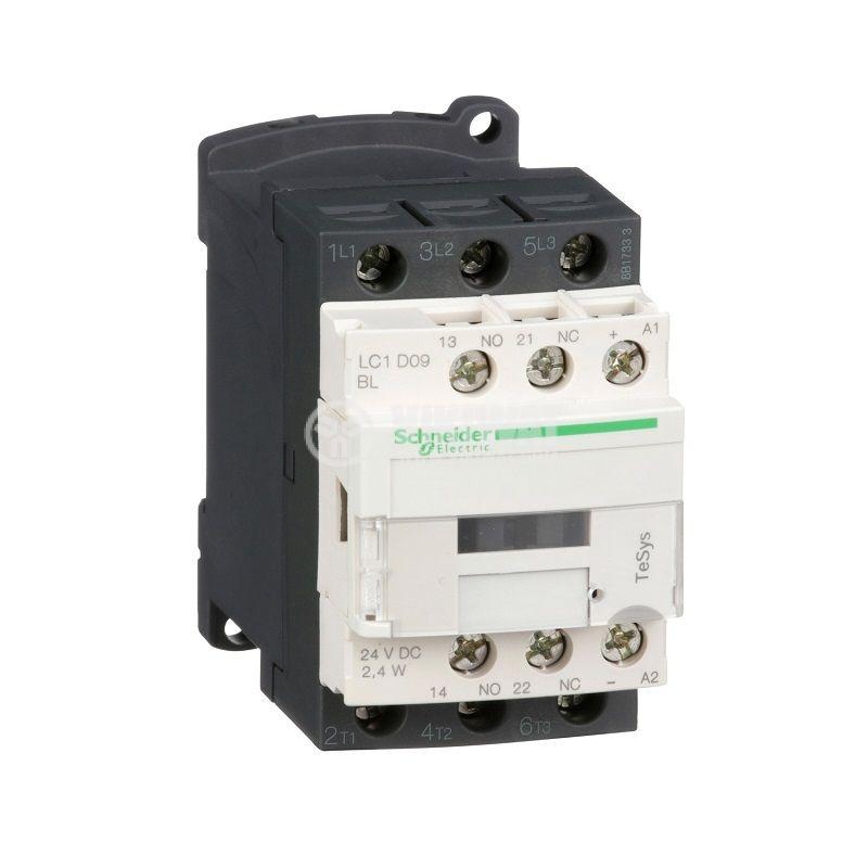 Контактор LC1D09BL 3P 24V бобина 9A NO+NC