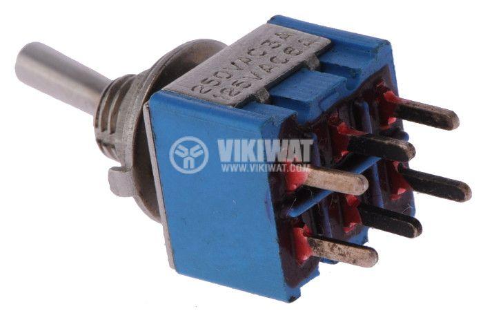 ЦК ключ MTS-212-А2, 3А/250VAC, 6А/125VAC, DPDT, ON-(ON) - 2