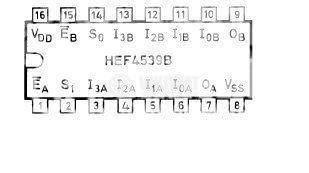 Интегрална схема 4539, CMOS, Dual 4-input multiplexer, DIP16 - 2