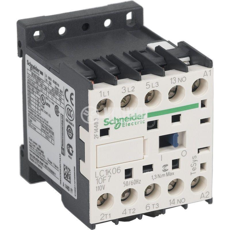 Контактор LC1K0610F7 3P 110V бобина 6A NO Schneider
