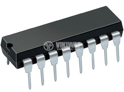 Интегрална схема 4555, CMOS, Dual Binary to 1 of 4 Decoder/Demultiplexers, DIP16 - 1