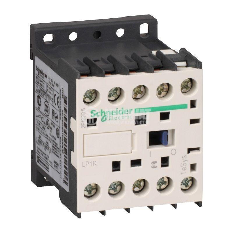 Контактор LP1K0901BD, 3P, 24VDC бобина, 9A, оперативни контакти NC