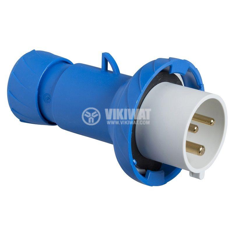 Индустриален съединител, мъжки, 16A, 230VAC, 2P+E, Schneider PKE16M723