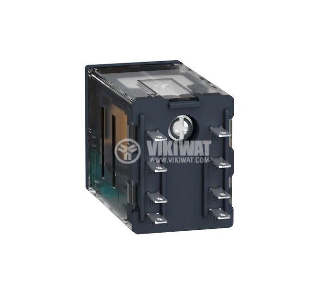 Реле електромагнитно RXM2AB2JD, бобина 12VDC, 12A, 250VAC, DPDT, 2xNO+2xNC - 2