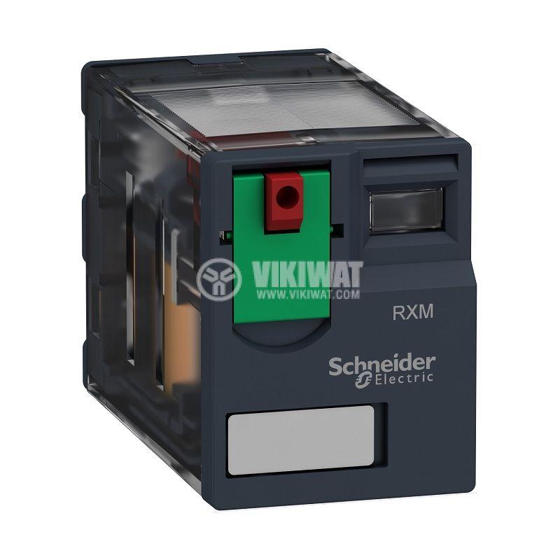 Реле електромагнитно RXM4AB1F7, бобина 120VAC, 6A, 250VAC, 4PDT