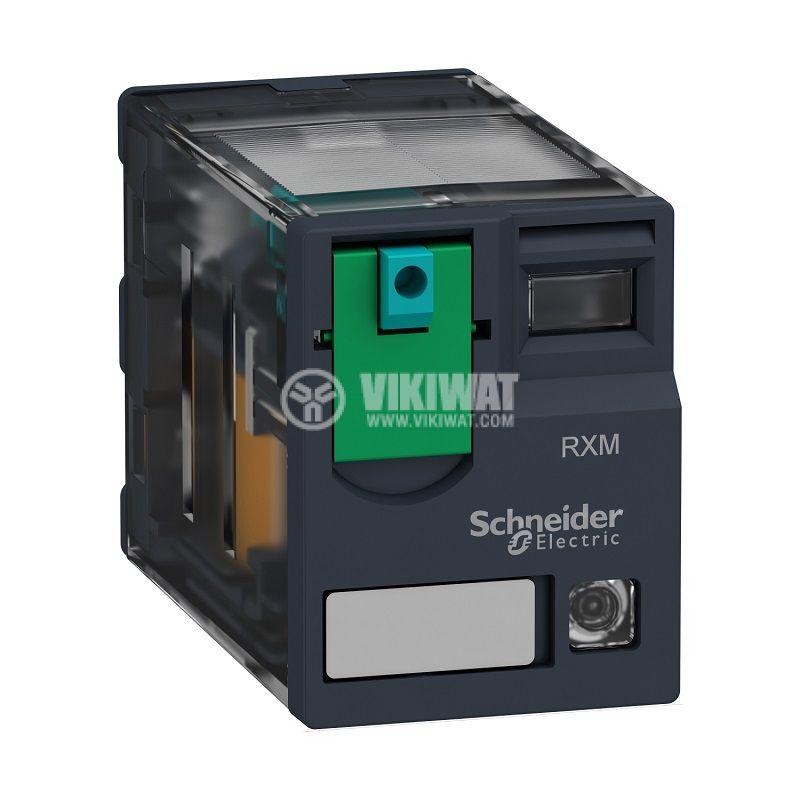 Реле електромагнитно RXM4AB2JD, бобина 12VDC, 6A, 250VAC, 4PDT