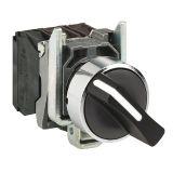 Панелен превключвател, XB4BD41, ротационен, ф22mm, 3A/240VAC, 2 позиции