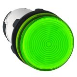 Индикаторна лампа, глим, XB7EV63P, 230VAC, зелена, ф22mm