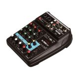 Professional mixer A4, 2 microphones and 1 universal L/R, Bluetooth, USB, FM radio, MP3, PC
