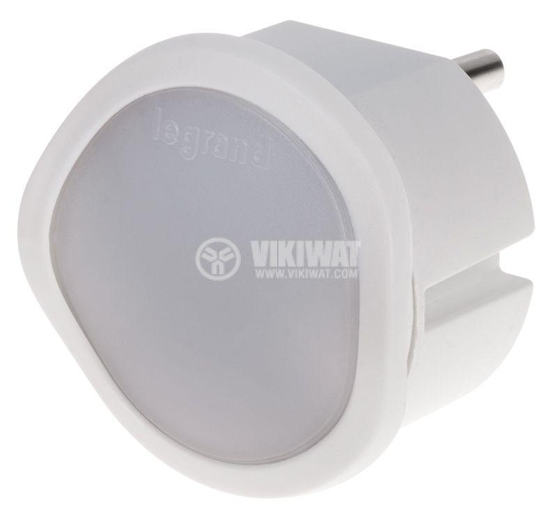 LED нощна лампа за контакт със сензор за включване при мрак топло/студено бяла димируема LEGRAND 050678 - 1