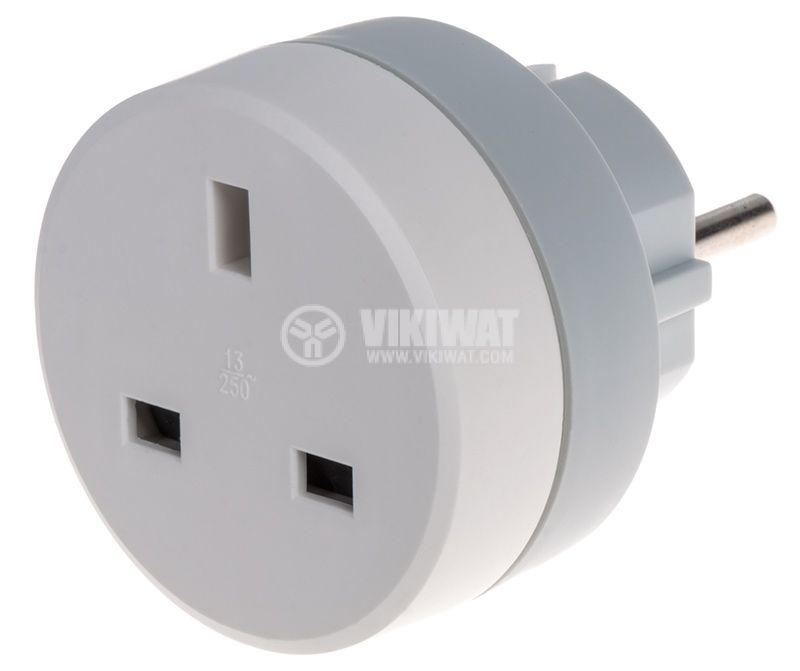 Travel adapter plug UK/GB => shuko | LEGRAND 50383 - 1