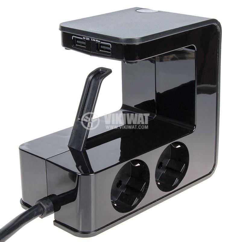 Разклонител с 2 USB порта - 2