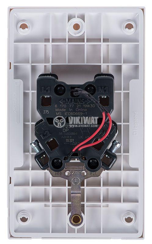 Електрически ключ за вграждане, светещ, бял и червен, LEGRAND - 3
