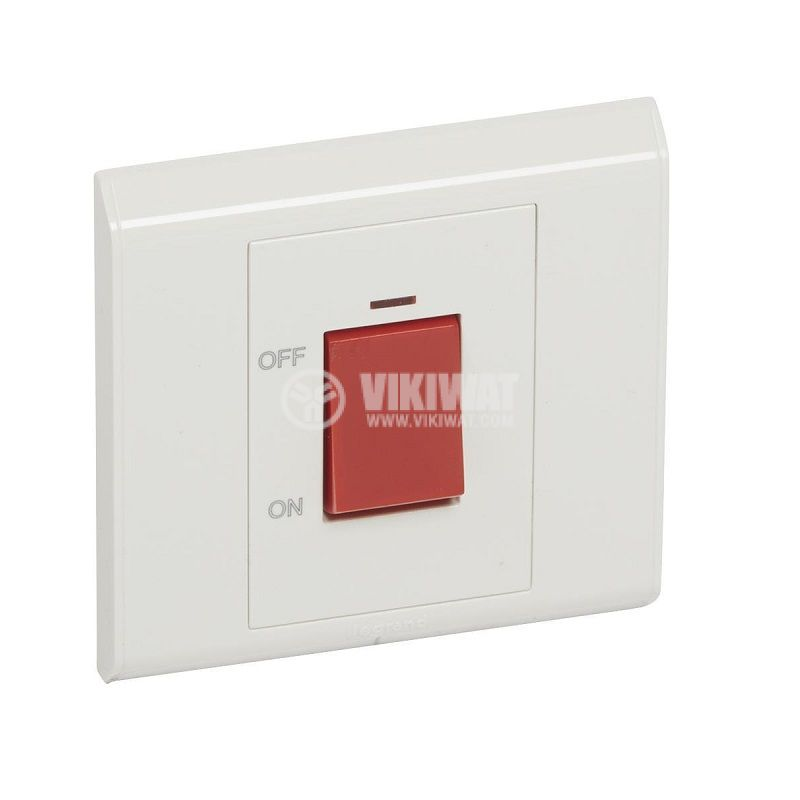 Electric switch for boiler, 45A, 250VAC, built in mounting