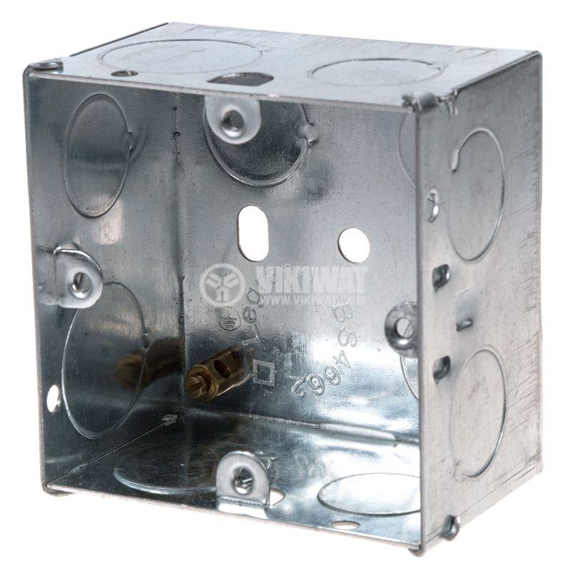 Конзола за бойлерно табло за вграждане метална 73x73x47 LEGRAND BS4662 - 1