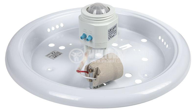 Плафон със сензор BL664-2C, 2xE27, 120-360°, 2x25W, E27, 220~240VAC  - 4
