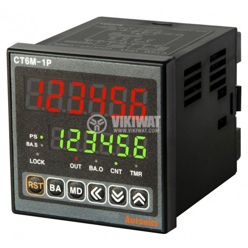 Брояч на импулси/време CT6M-1P2 електронен NPN PNP - 1
