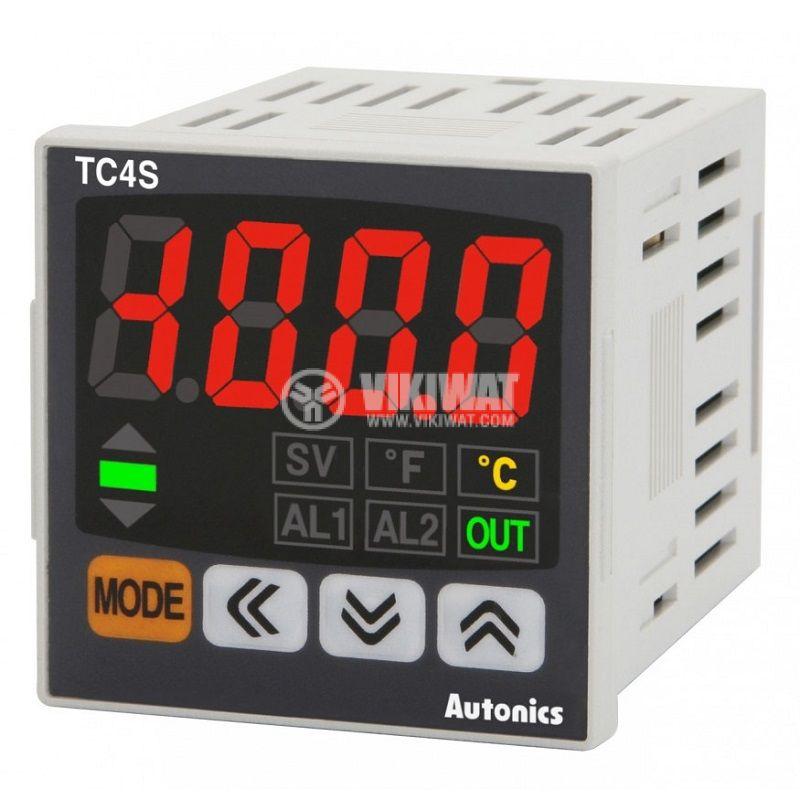 Термоконтролер TC4S-24R 100~240VAC 0.1~999.9°C релеен+алармен - 1
