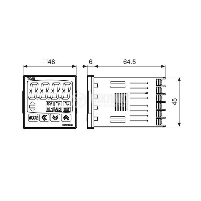 Термоконтролер TC4S-24R - 2