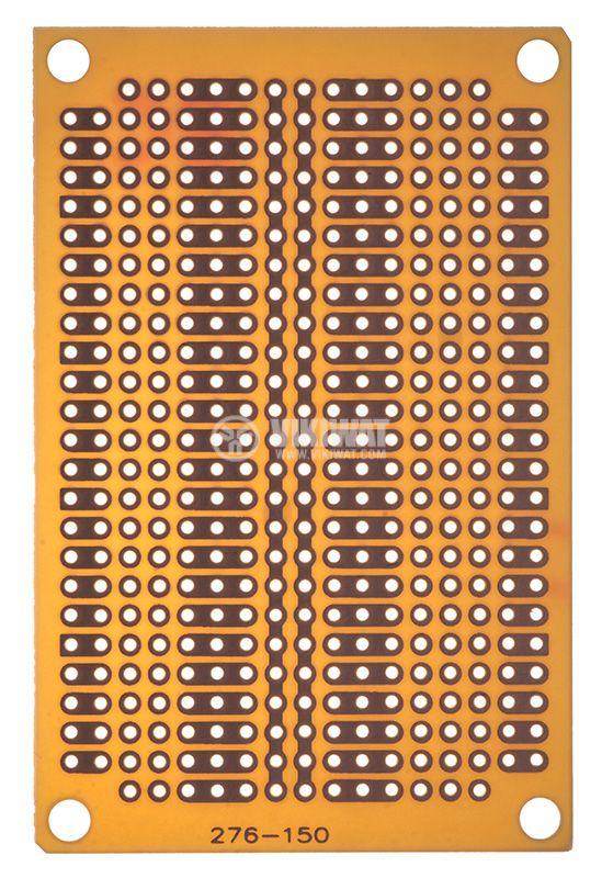 Универсална платка PC-4, едностранна с отвори, 47x72x1.6mm, 2.54mm - 1