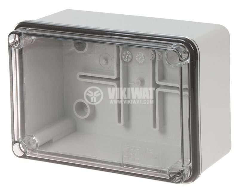 Кутия за табло 686.225 сива с прозрачен капак IP56 - 1