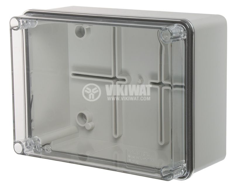 Junction box 686.226 150x110x70mm gray with transparent lid IP56 - 1