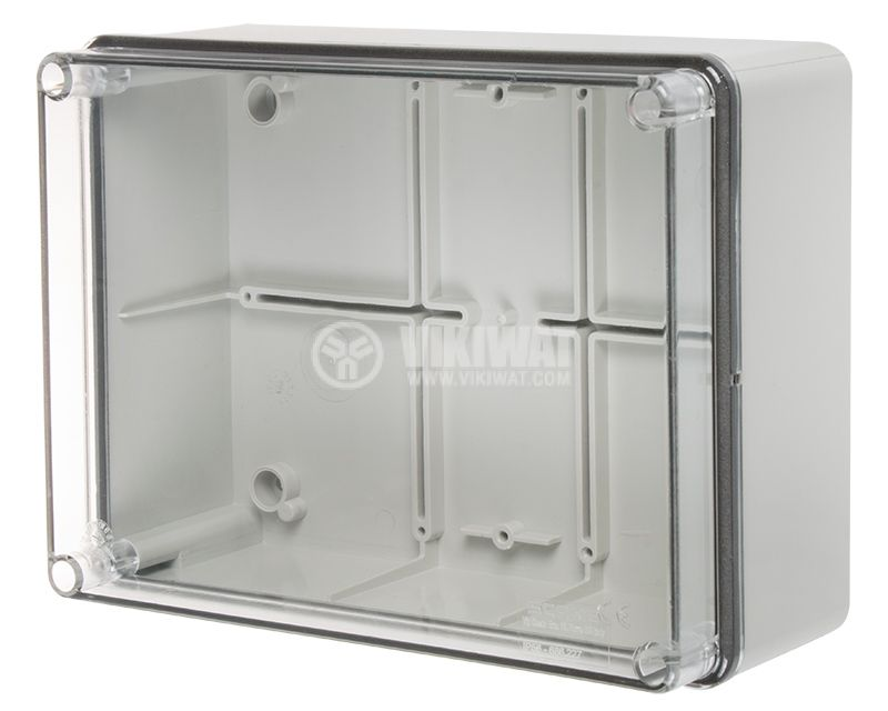 Junction box 686.227 gray with transparent lid IP56 - 1
