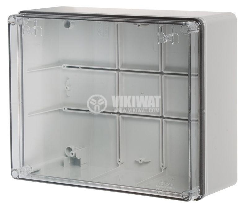 Кутия за табло 686.228 сива с прозрачен капак IP56 - 1