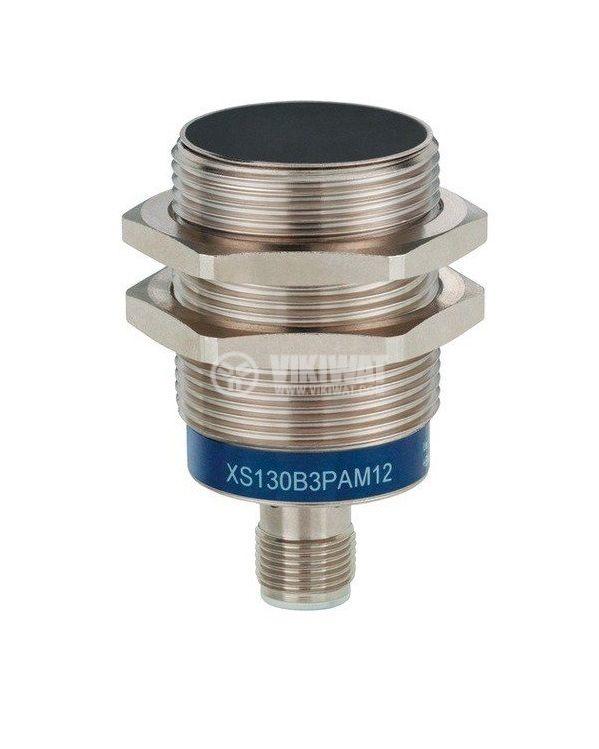 Индуктивен датчик XS130B3PAM12 10~36VDC PNP NO 15mm M30x54.5mm екраниран за куплунг
