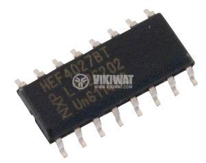 Интегрална схема 4027, CMOS, Dual J-K Master/Slave Flip-Flop, SOIC16, SMD - 1