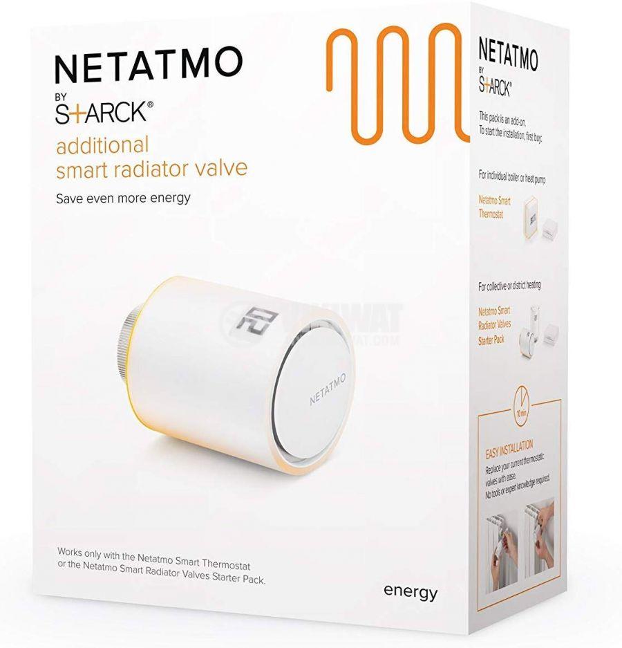 Wi-Fi Smart вентил за радиатор Netatmo NAV-EN 5°C~30°C 80x58mm 2xAA - 3
