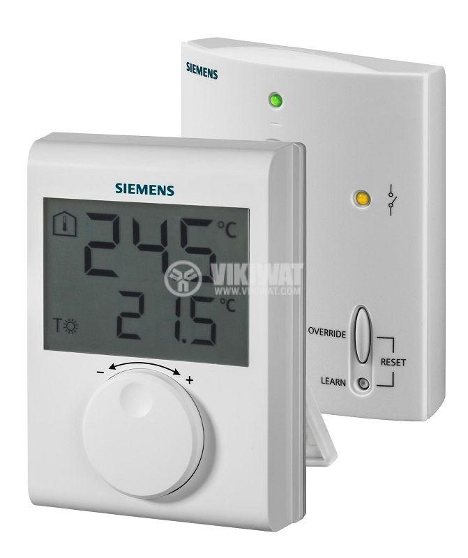 Безжичен стаен термостат RDH100RF/SET, предавател/приемник, LCD, SIEMENS