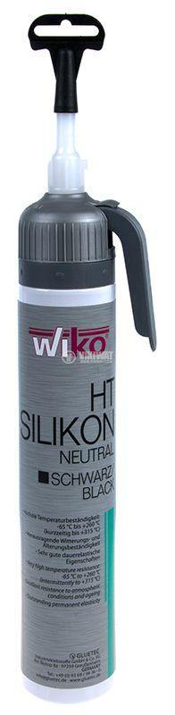 Силикон, високотемпературен, SIOS.K200, черен, 200ml, 315°C - 1