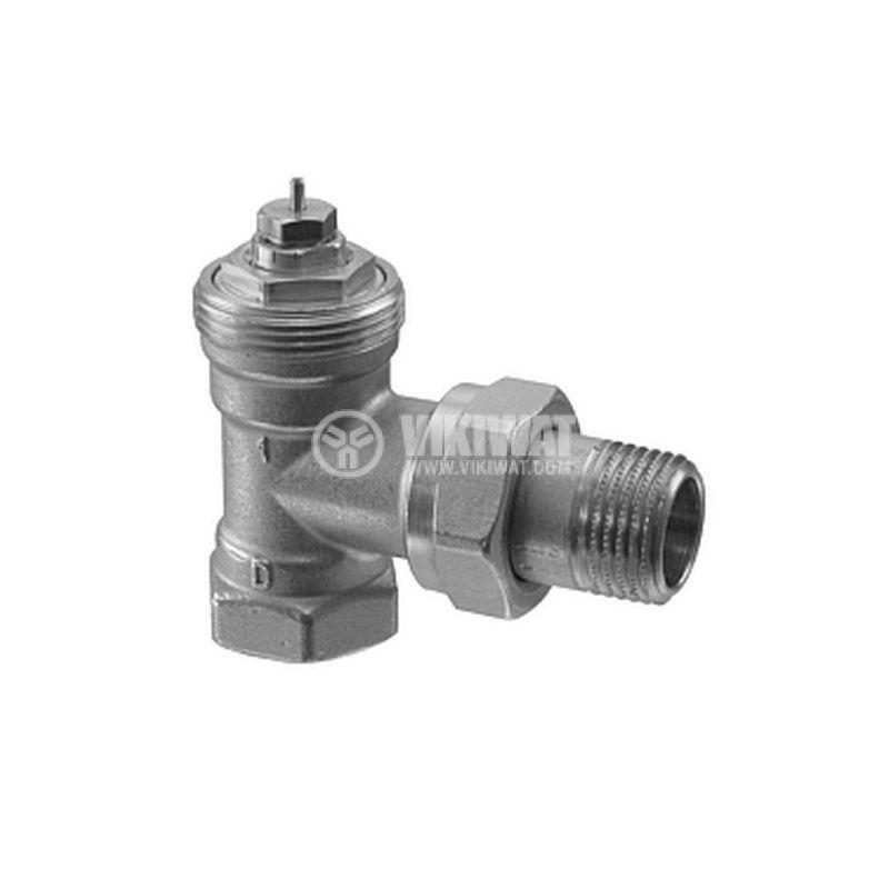 Вентил за радиатор за отопление, VEN115, прав, DN15, M30x1.5mm, SIEMENS - 1